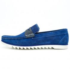 Mocasini barbati Ucu Dima, Cod:KT 878 BLUE (Culoare: Albastru, Marime Incaltaminte: 44)