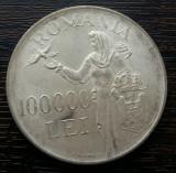 (A32) MONEDA DIN ARGINT ROMANIA - 100.000 LEI 1946, REGELE MIHAI I