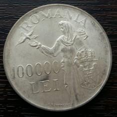 (A32) MONEDA DIN ARGINT ROMANIA - 100.000 LEI 1946, REGELE MIHAI I - Moneda Romania