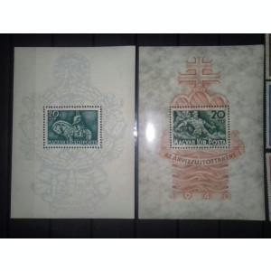 Ungaria 1940 2 colite dantelate mnh (Regele Matias+Inundatia)