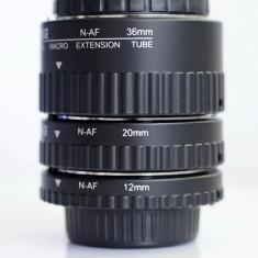 Tub de extensie macro Meike cu contacte pt. Auto Focus pt. Nikon - Inel macro obiectiv foto