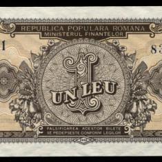 Y365 ROMANIA 1 LEU 1952 serie albastra UNC NECIRCULATA - Bancnota romaneasca