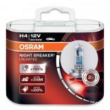 Set 2 Becuri auto cu halogen pentru far Osram H4 Night Breaker Unlimited 12V 55W