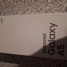 Samsung A5 2017 sigilat - Telefon Samsung, Negru, Neblocat, Single SIM