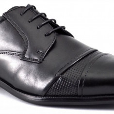 Pantofi barbati negri Piele Naturala - Girza, Marime: 41