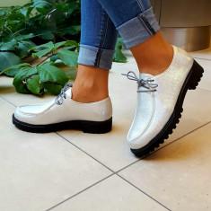 Incaltaminte casual model Musette, Cod:COR 2.2016 SILVER (Culoare: Argintiu, Marime Incaltaminte: 40) - Pantof dama UCU Dima