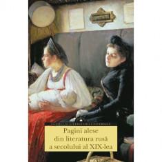 PAGINI ALESE DIN LITERATURA RUSA A SECOLULUI AL XIX-LEA (TL)