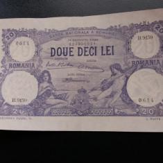Bancnote romanesti 20lei 1929 luna ianuarie xf - Bancnota romaneasca