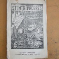 Stiinta si progres 1942 Timisoara revista liceelor militare
