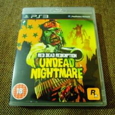 Joc Red Dead Redemption Undead Nightmare, PS3, original, alte sute de jocuri! - Jocuri PS3 Sony, Shooting, 16+, Single player