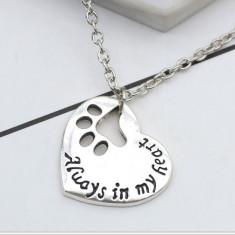 Pandantiv/lant colier cuplu mesaje dragoste pentru indragostiti catelus inima - Pandantiv fashion