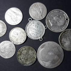 Lot 10 monede ARGINT 33 grame 65 RON, Europa