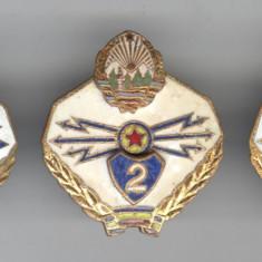 Insigna MILITARA - Set complet TRANSMISIUNI MILITARE - RSR 1970