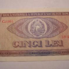 5 lei 1966 UNC - Bancnota romaneasca