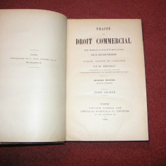 Traite De Droit Commercial - M. Bravard-Veyrieres -1890 - Vol. 1, 2 si 6 - Carte Drept comercial
