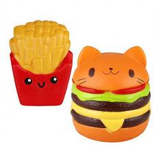 Jucarie cu revenire lenta - Squishie Hamburger gigant &Cartofi  - Undercover®