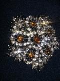 BROSA vintage imitatie aur,brosa superba in doua culori,Bijuterie dama,T.GRATUIT