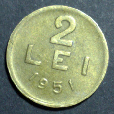 2 lei 1951 2 CUPRU - Moneda Romania