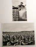 2 Fotografii de propaganda originale 1935 trupele naziste si tanc