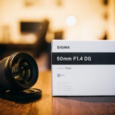 Sigma 50mm f/1.4 DG HSM Art - Canon EF - Obiectiv DSLR
