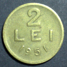 2 lei 1951 1 CUPRU - Moneda Romania