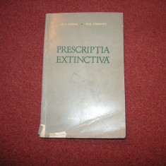 Prescriptia extinctiva - Jean Mateias, Paul Cosmovici - Carte Jurisprudenta