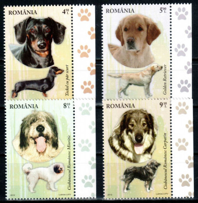 Romania 2012, LP 1949, Rase de caini, seria, MNH! LP 32,10 lei foto
