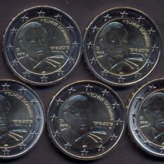 Monede GERMANIA 2018, 5x2 euro comemorative (ADFGJ) Helmut Schmidt - UNC, Europa, Cupru-Nichel