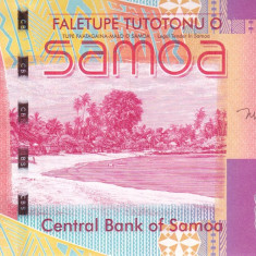 Bancnota Samoa 5 Tala (2017) - P38c UNC ( semnatura noua )