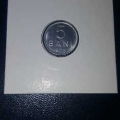 Moneda Romania 5 Bani 1975 UNC - BU, Aluminiu