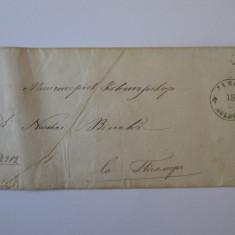Rar! Jassy Moldova plic prefilatelic pentru documente cu sigiliu circa 1850