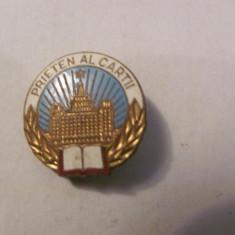 """PVM - Insigna """"Prieten al Cartii"""""""