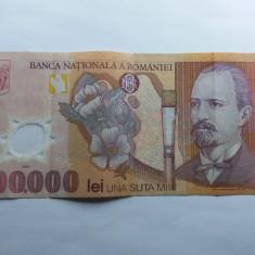 Romania 100000 lei 2001 - Bancnota romaneasca