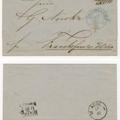 BRAUNSCHWEIG Germania Michel #8b pe scrisoare 1859 + certificat de autenticitate