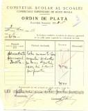 Z432 DOCUMENT VECHI-COMITETUL SCOALEI COMERCIALE SUPERIOARE DE BAIETI, BRAILA
