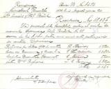 Z420 DOCUMENT VECHI-RECEPISA-SCOALA COMERCIALA SUPERIOARA DE BAIETI, BRAILA 1934