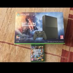 Xbox One S 1TB Limited Edition Olive Green factura+garantie+jocuri - Consola Xbox