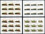 Romania 2011, LP 1912 c, Locomotive, minicoli de 8 + vinieta, MNH! LP 180,95 lei