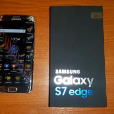 Samsung Galaxy S7 Edge 32 GB, Gold Platinum, Sticla Ecran Fisurata - Telefon Samsung, Auriu, Neblocat, Single SIM