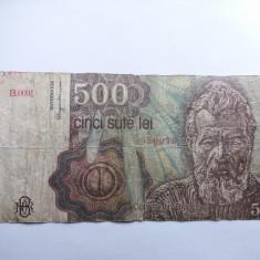 Romania 500 lei 1991-IANUARIE - Bancnota romaneasca