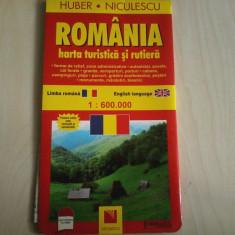 Harta rutiera si turistica Romania 1:600.000 ( romana/engleza)