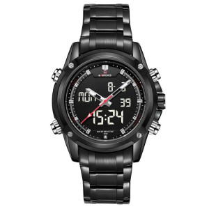 Ceas Luxury Naviforce 9050 Dual Time Subacvatic Japan Movement BARBATI CALENDAR