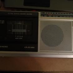 Radio Casetofon Portabil Siemens Club RM 851 cu probleme, 0-40 W