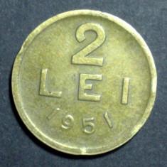 2 lei 1951 3 CUPRU - Moneda Romania