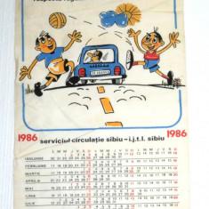 CALENDAR - rutier serviciul circulatie - animatie Lolec si Bolec - SIBIU - Calendar colectie