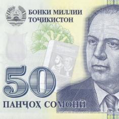Bancnota Tadjikistan 50 Somoni 2017 - PNew UNC - bancnota asia