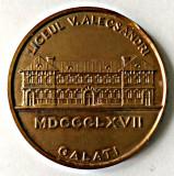MEDALIE LICEUL V ALECSANDRI GALATI 1867 1967 CENTENAR MEDALIA LICEU