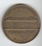 Placheta Liceul VASILE ALECSANDRI - GALATI 1867-1967  medalie COMEMORATIVA