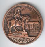 PLACHETA  DEVA  - DECEBAL Judetul Hunediara medalie aniversara