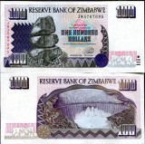 !!! ZIMBABWE - 100 DOLARI 1995  - P 9 - UNC